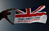 Monmouth flies the flag for Armed Forces Day with 50 days to go