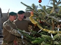 A traditional Christmas tree for the men of 40 Commando on active duty in Afghanistan
