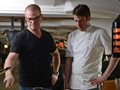 Heston Delights the Dockyard with his Naval creation on board HMS Victory
