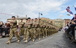 40 Commando Royal Marines Homecoming Parade in Taunton