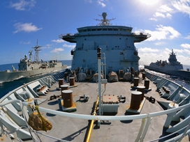 Double Replenishment at Sea for Fort Vic