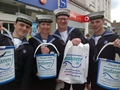 Seafarers charity receives donations collected by naval trainees