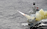 Harpoon missile obliterates target in successful high seas firing