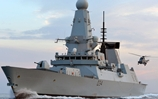 All seeing eyes of the Fleet link up in the Gulf as a Bagger Sea King joins HMS Diamond