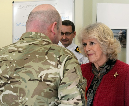 Duchess Of Cornwall Meets Recovering Troops In Plymouth