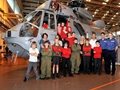 Gomer school services club learn about life in the Royal Navy