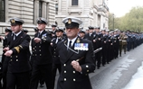 Military personnel involved in Operation Ellamy parade in London