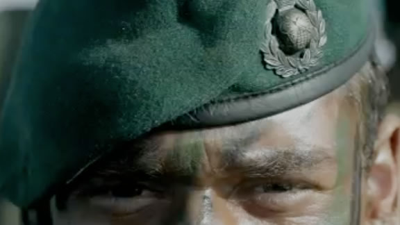 A close up photo of a Royal Marine