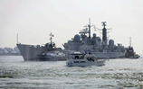 HMS Edinburgh returns to Portsmouth