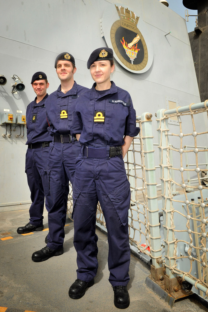 Royal Navy Puts New Uniform To The Test