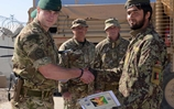 Afghan explosive experts with their 40 cdo colleagues