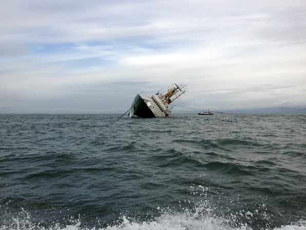 Royal Navy Saves Sinking Tug In English Channel
