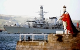 HMS Monmouth Leaving HMNB Devonport
