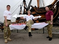 Royal Navy Medics take on 360 mile stretcher challenge