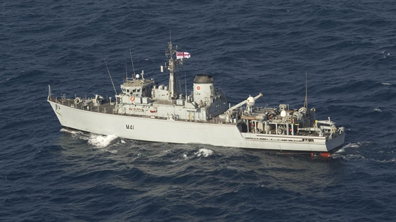 HMS Quorn at Sea in the Gulf (Aug 11)