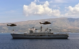 HMS Illustrious hosts Albanian President
