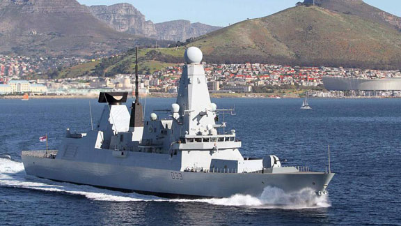 HMS Dauntless in Cape Town