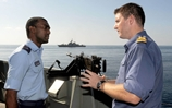 British and Omani sailors swap ships for the day