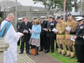 Aircraft handler's gather for memorial at Culdrose