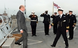 Royal visit for HMS Duncan