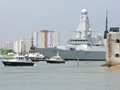 HMS Duncan sails from Portsmouth for first time