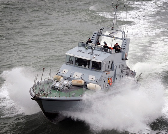 HMS Raider takes part in the 2011 Maritime Combat Power Visit in the Solent