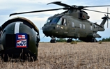 Future commando helicopters join Royal Marines in the field for the first time