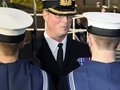 Royal Navy dentist takes charge of first parade