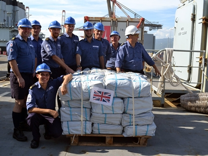 RFA Argus Delivers Aid to Jamaica