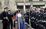 Royal Navy Personnel Parade at Westminster Abbey