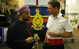 Royal attendance for HMS Bulwark in Oman