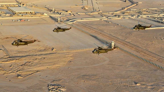One of the last flights of the SeaKing in Afganistan took place today over Mount Juno, Just outside Camp Bastion.