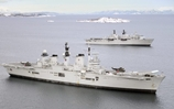HMS Bulwark and HMS Illustrious in Exercise Cold Response