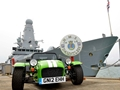 Warship Shows Off Links With Sports Car Company