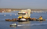 HMS Queen Elizabeth Bridge Sets Sail
