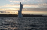 Royal Navy ordnance disposal team explodes large WW2 bomb