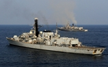 HMS Westminster works out with Indian Navy