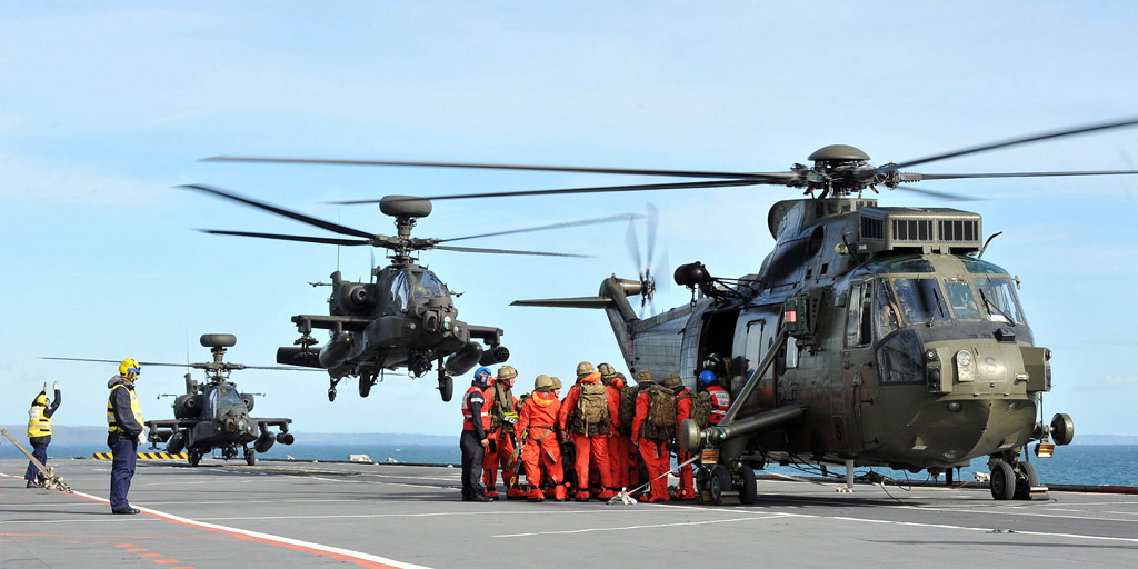Cougar Task Group off Cornish Coast