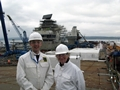 Lord Lieutenant of Hampshire visits new aircraft carrier