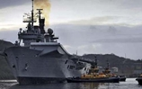 HMS Illustrious in Scottish Waters