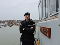 Dorset Royal Navy officer sails his warship his home port