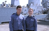 Surprise high seas meeting for navy couple