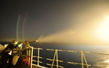 HMS Illustrious fends off air attacks for Middle Eastern exercise