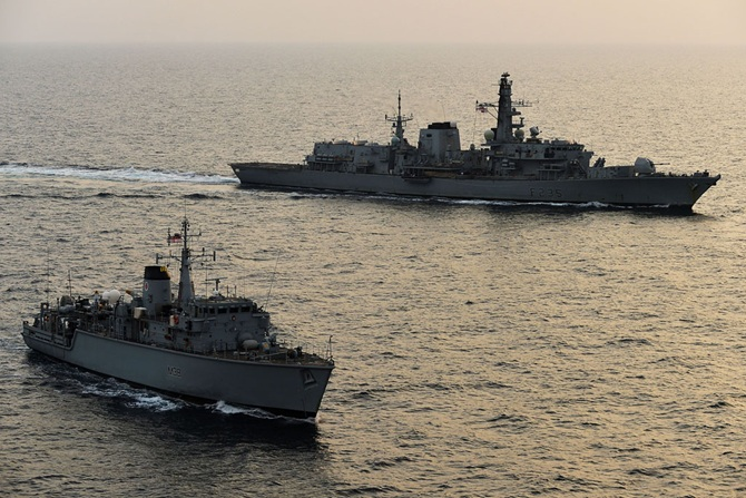 Royal Navy Ships Join Forces In The Gulf