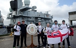 Five sailors from frigate HMS Sutherland try to get to Plymouth from Invergordon for charity