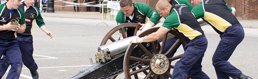 Royal Navy Royal Marine Charity Field Gun Competition