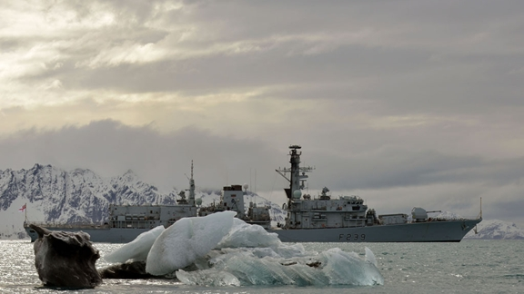 A stunning landscape welcomes HMS Richmond