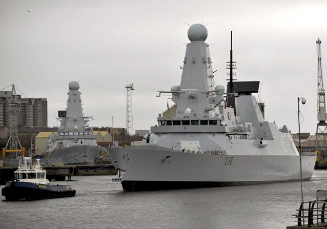 Defender resumes her sea trials as new destroyer prepares to join the Fleet