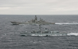 Royal and Russian Navy exchange call signs on high seas