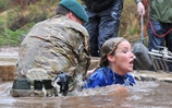 Helen Skelton does the Royal Marines endurance course